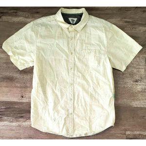 Vissla Mens Wovne Happens Ivory Shirt Size XL